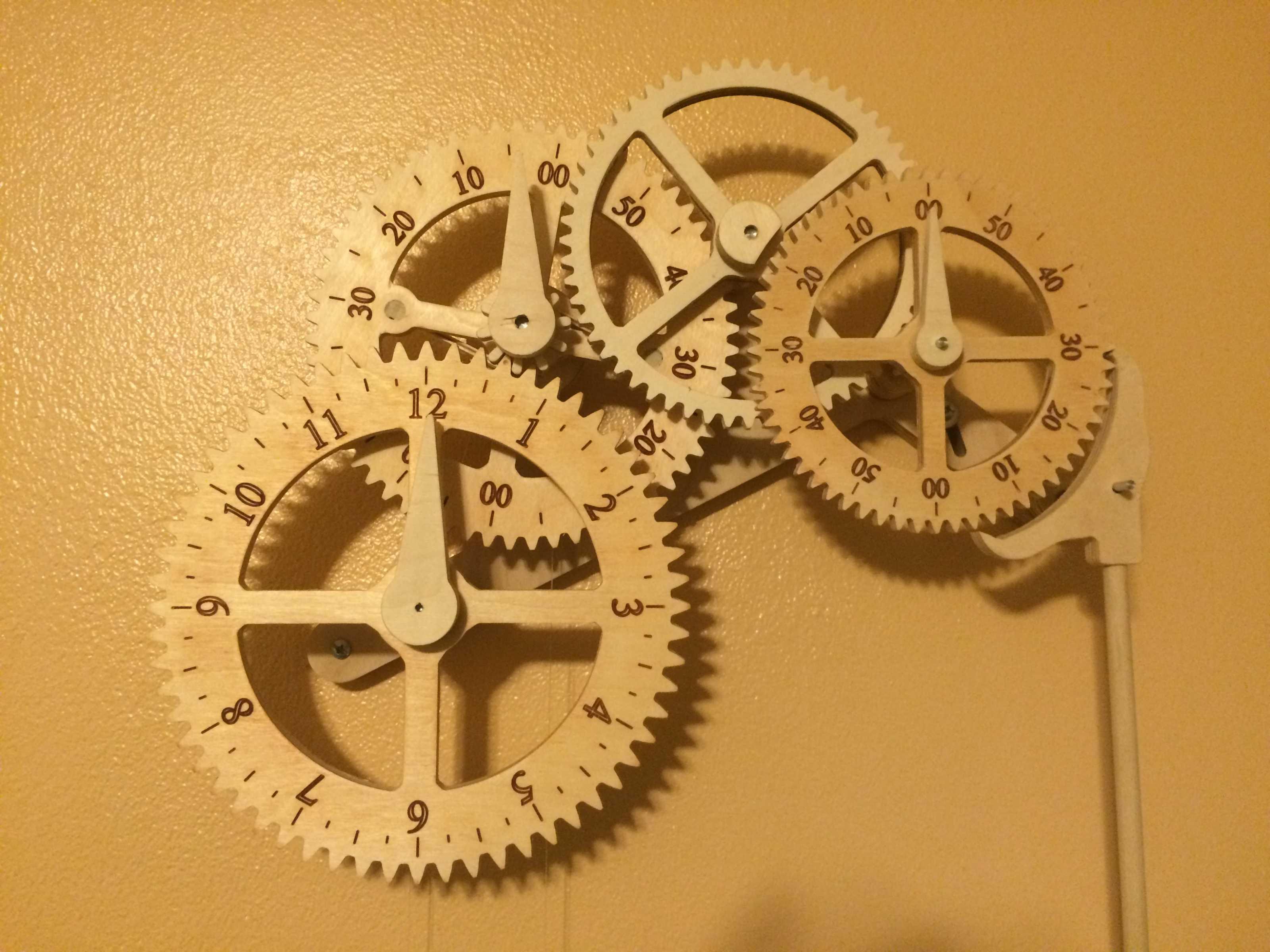 Wooden Mechanical Clock