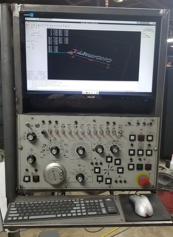 Retrofitted Bridgeport CNC Knee mill - LinuxCNC