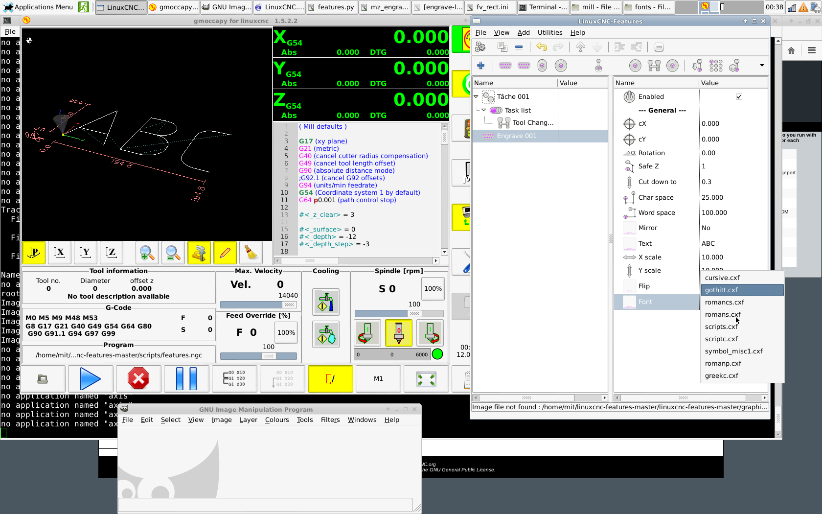 Linuxcnc Features A Kind Of Ngcgui