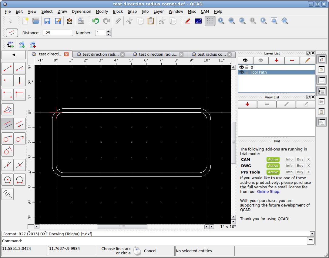 Screenshot-testdirectionradiuscorner.dxf-QCAD.png