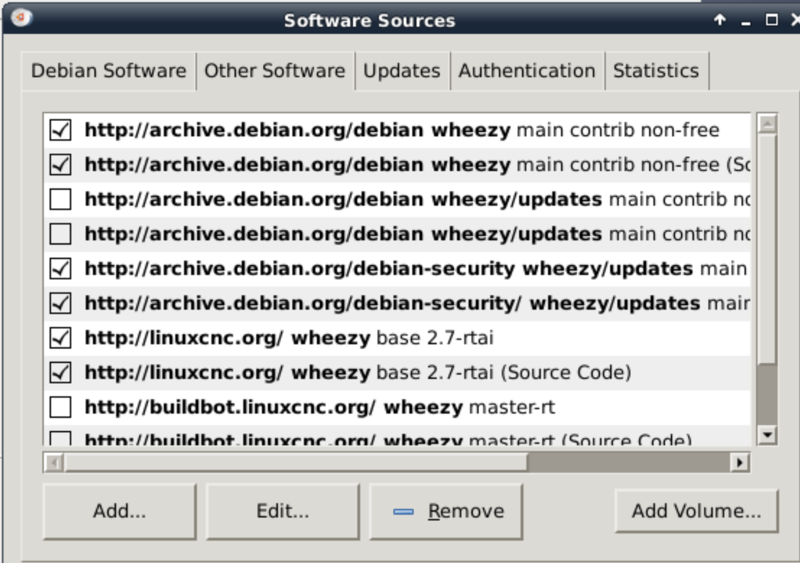 Fixing Wheezy Repositories - LinuxCNC